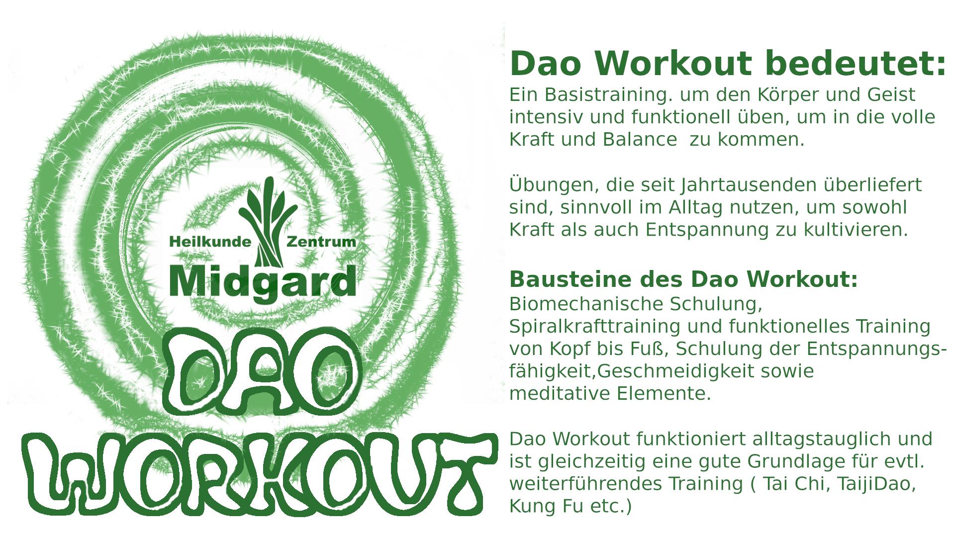 Dao Workout - funktionelles Training und Chen Tai Chi, TaijiDao in Bremen
